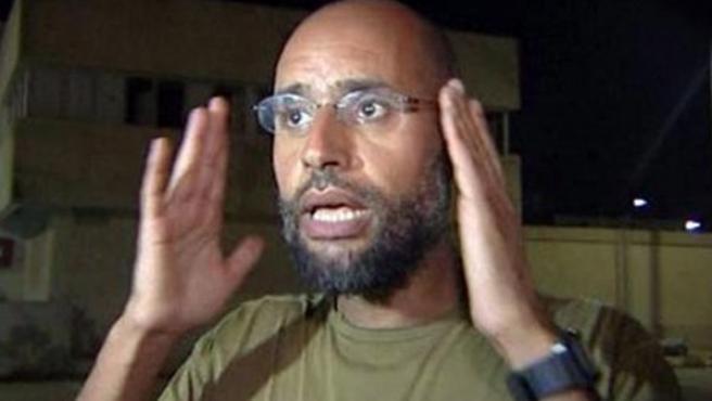 Saif al Islam Gadafi, uno de los hijos del dictador libio, Muamar el Gadafi.