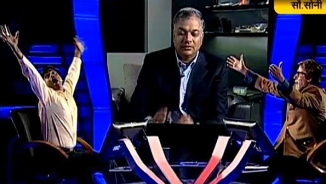 Sushil Kumar, en el momento de ganar 50 millones de rupias.