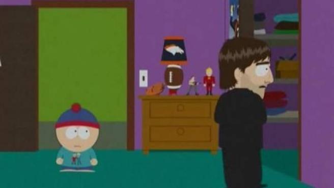 Escena del capítulo de 'South Park' titulado 'Atrapado en el armario'.