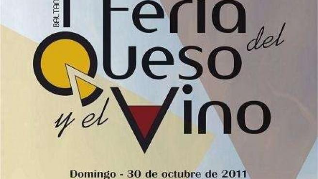 Cartel De La 1ª Feria De Queso Y El Vino De Baltanás