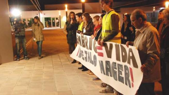 Concentración Contra El Aborto En Ansoáin.