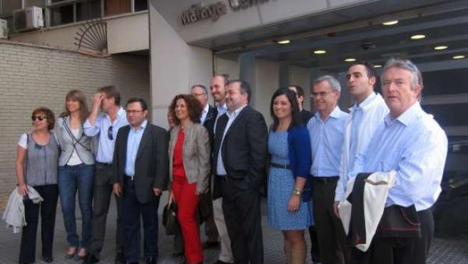 Dirigentes Del PSOE Con Alcaldes Del Guadalhorce