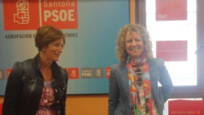 Puerto Gallego Y Rosa Eva Díaz Tezanos En Un Acto En Santoña