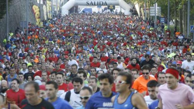 Un Total De 3.400 Personas Participan En La Carrera Pedestre De Santiago