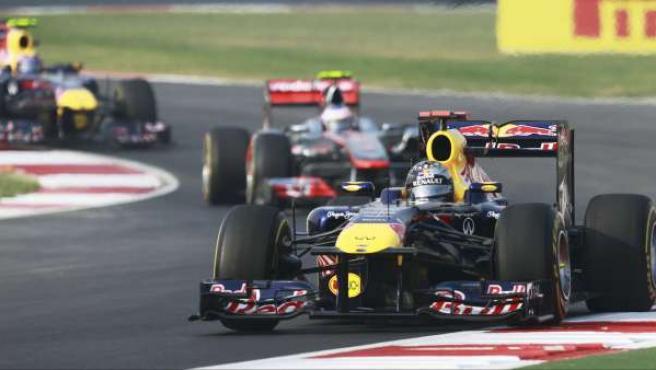 Vettel, en al India.