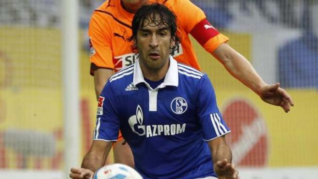 Raúl, en acción.