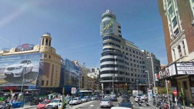 La madrileña plaza de Callao, en una imagen de Google Street View.