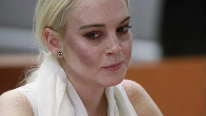 Lindsay Lohan, durante la vista en Los Ángeles.