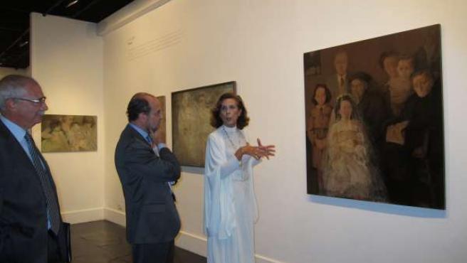 Abad, García Toledo Y Nati Cañada En La Exposición Del Artista En CAI Luzán