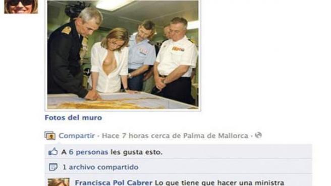 Fotomontaje de Carme Chacón.