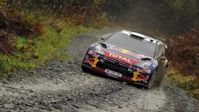 Loeb, en el Rally de Gales.