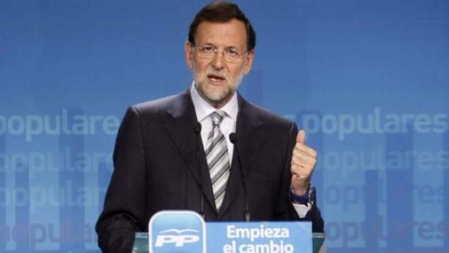 Imagen de archivo del candidato del PP a la presidencia del Gobierno, Mariano Rajoy.