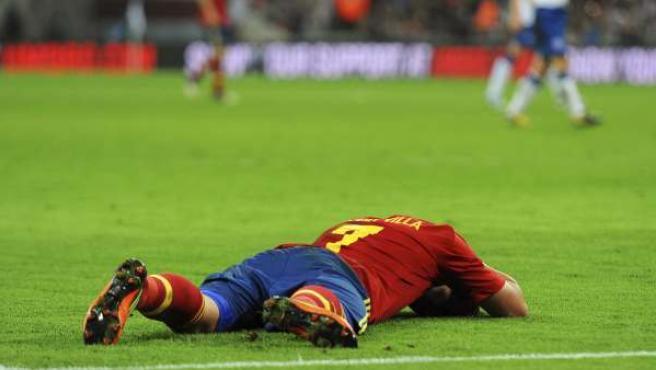 El jugador de la selección española, David Villa.