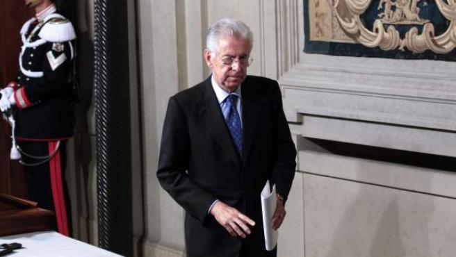 Mario Monti, tras ser designado como encargado para formar el nuevo Ejecutivo tras la dimisión de Berlusconi.