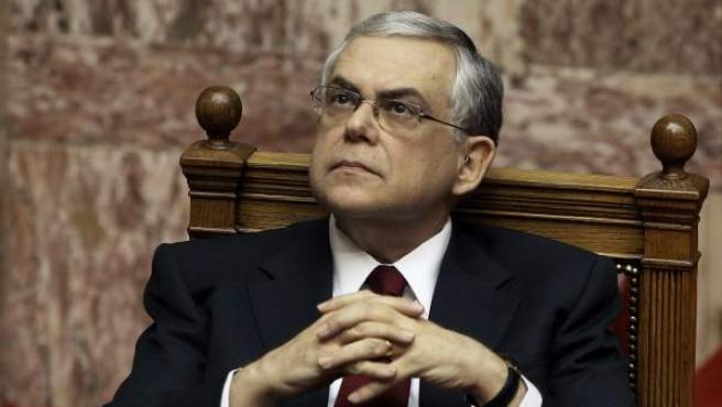 El primer ministro griego Lucas Papademos.