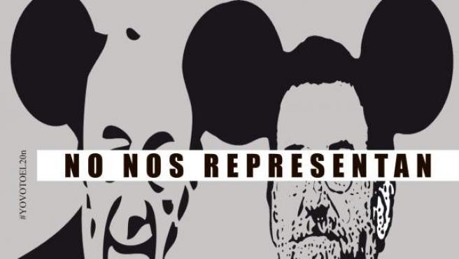 Uno de los carteles sobre las elecciones del 20-N que recoge la web Voces con Futura.