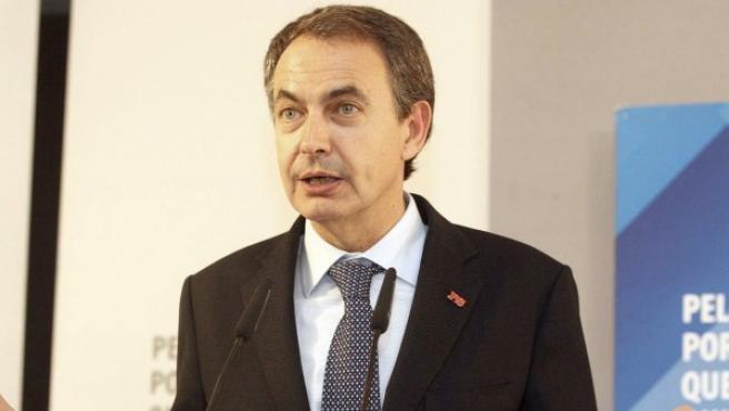 José Luis Rodríguez Zapatero, durante su intervención en Soria en un mitin.