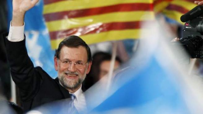 Mariano Rajoy, durante un acto de campaña.