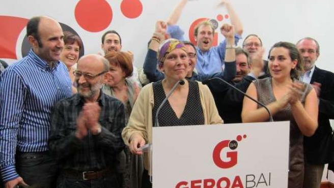 Acto De Geroa Bai Tras Conocerse Los Resultados Electorales.