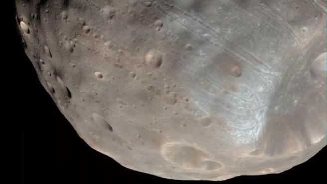 Imagen de Fobos facilitada por la NASA.