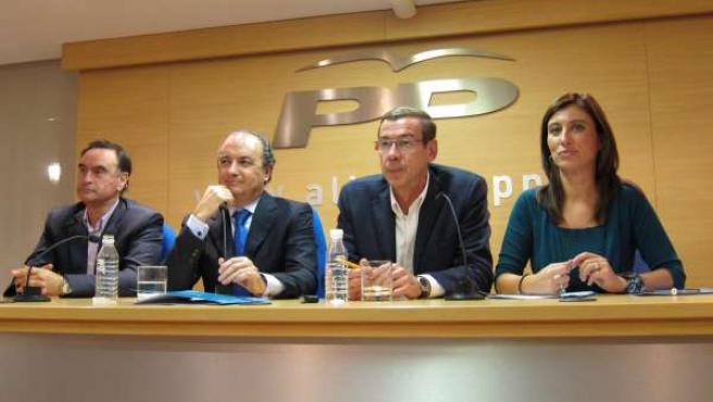 Miguel Ortiz, J. Ripoll, Antonio Clemente Y Mónica Lorente (De Izq. A Dcha.)