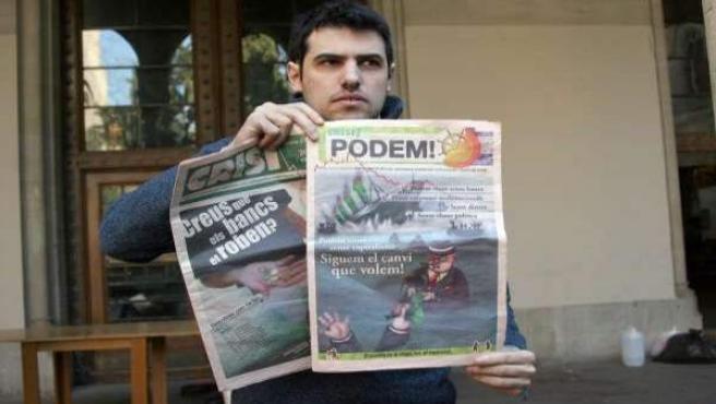 El activista estafó casi 500.000 euros en créditos personales y a través de una empresa ficticia.