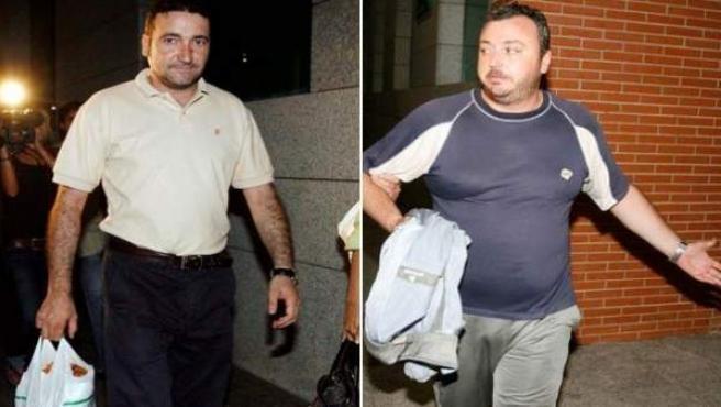 Tomás Felipe Boto, jefe de la Policía Local de El Molar y César Torollo Pérez, imputados en el caso 'El Molar'.