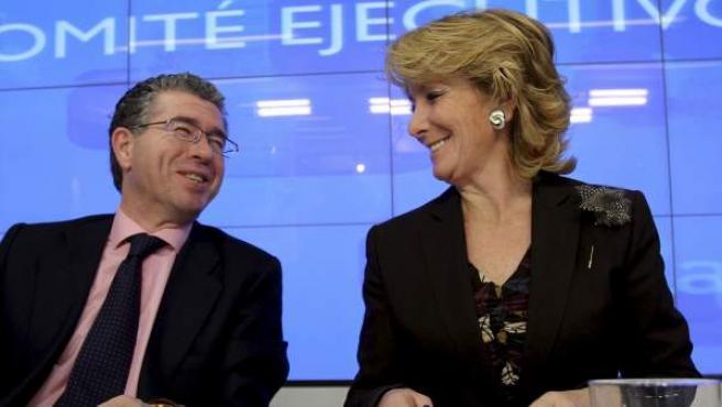 Esperanza Aguirre y Francisco Granados, en una imagen de archivo.