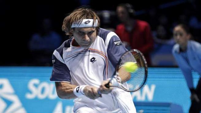 Ferrer, en el duelo ante Djokovic.