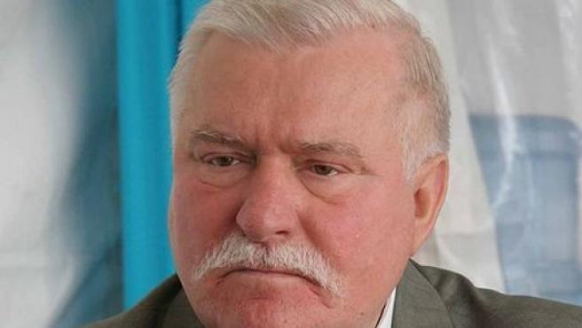 El líder de Solidaridad Lech Walesa.
