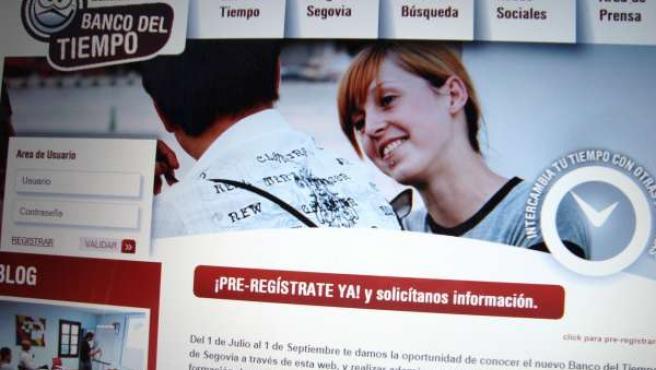 Web Del Banco Del Tiempo De Segovia