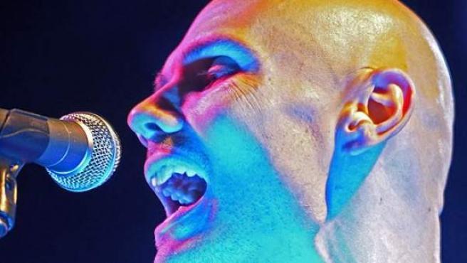 Billy Corgan, líder de la banda Smashing Pumpkins, en un concierto en Múnich, Alemania.
