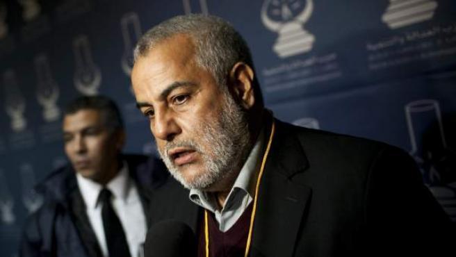 El líder del partido islamista Partido Justicia y Desarrollo (PJD) Abdelilah Benkiran.