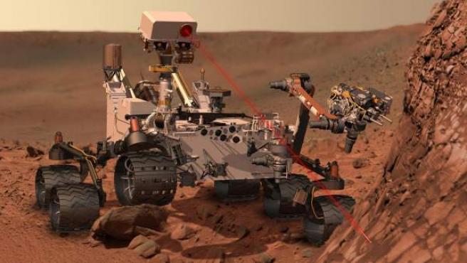 Imagen del robot 'Curiosity', diseñado para explorar la superficie del planeta Marte.
