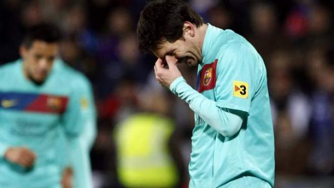 Leo Messi, delantero del Barça.