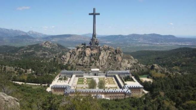 Vista general del Valle de los Caídos, en Madrid.