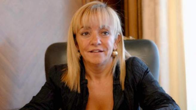La presidenta de la Diputación y del PP de León, Isabel Carrasco, en una imagen de archivo.