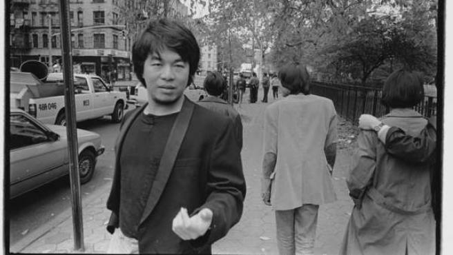 Weiwei en Tompkins Square Park, Manhattan, en 1986Tompkins Square Park