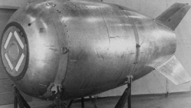 Imagen de archivo de una bomba de la II Guerra Mundial.