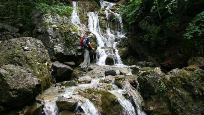 Imagen de un montañero en Monte Perdido (Huesca).