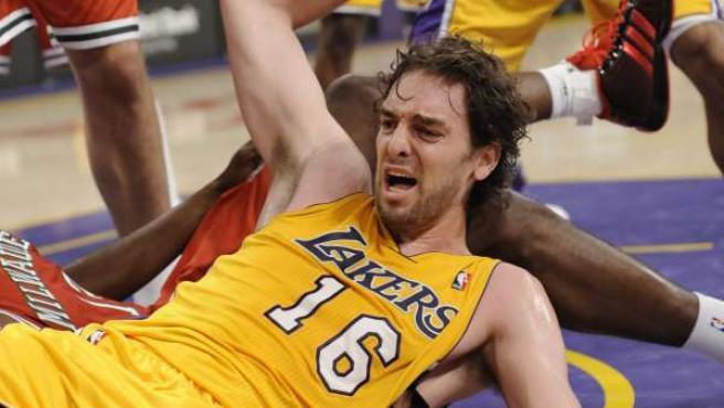 El jugador español Pau Gasol de los Lakers de Los Ángeles.