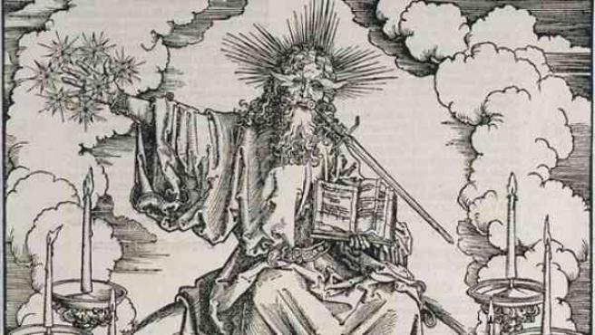 Una de las xilografías de Alberto Durero, impresas en 1511 para el Libro del Apocalipsis