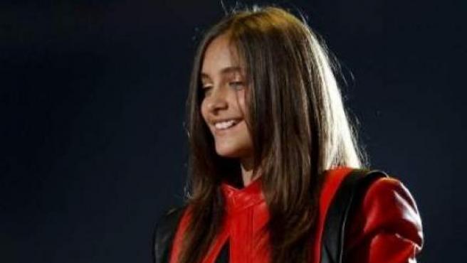 Imagen de archivo de la hija de Michael Jackson, Paris, en un homenaje a su padre.