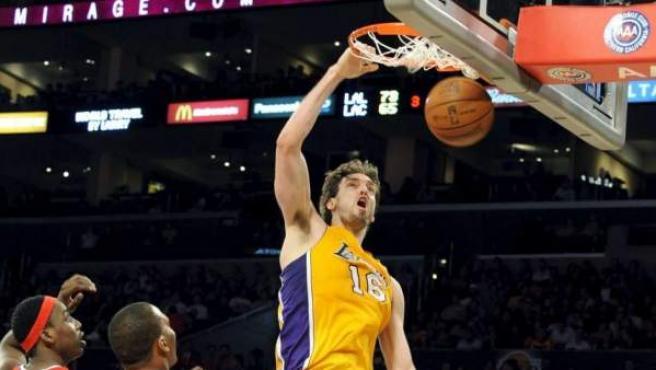 Imagen de archivo de Pau Gasol en un partido con los Lakers.