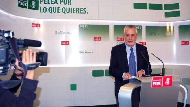 Griñán, En Rueda De Prensa En La Sede Del PSOE-A