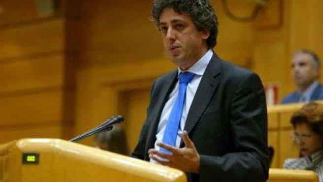 El senador del BNG, Xosé Manuel Pérez Bouza, en una intervención