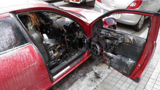 Incendio En Un Vehículo En Soria