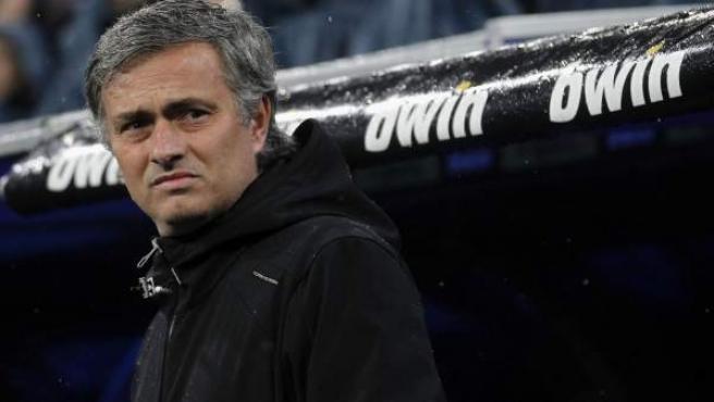José Mourinho, entrenador del Real Madrid, en el partido ante el Barça.