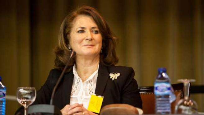 Rosa Muñoz En El Claustro De La Universidad De Sevilla