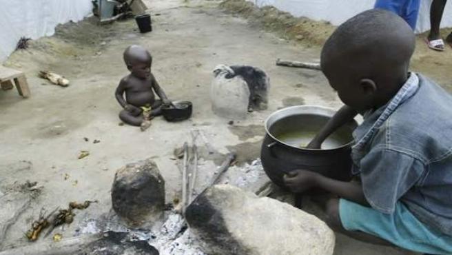 Niños en Costa de Marfil.
